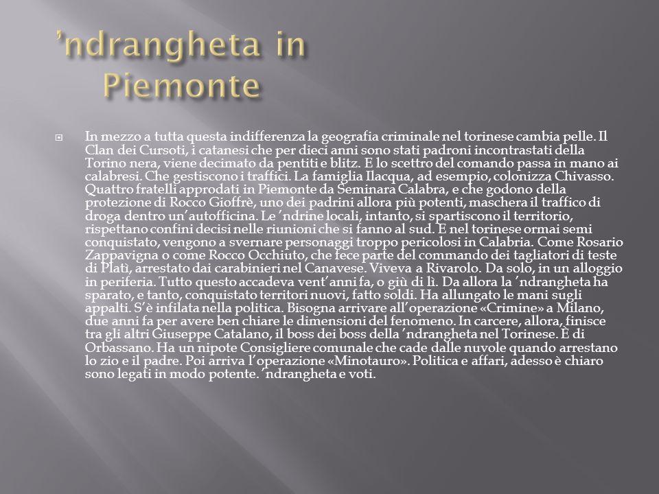 'ndrangheta in Piemonte