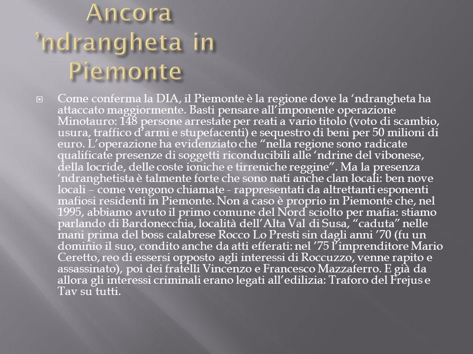 Ancora 'ndrangheta in Piemonte