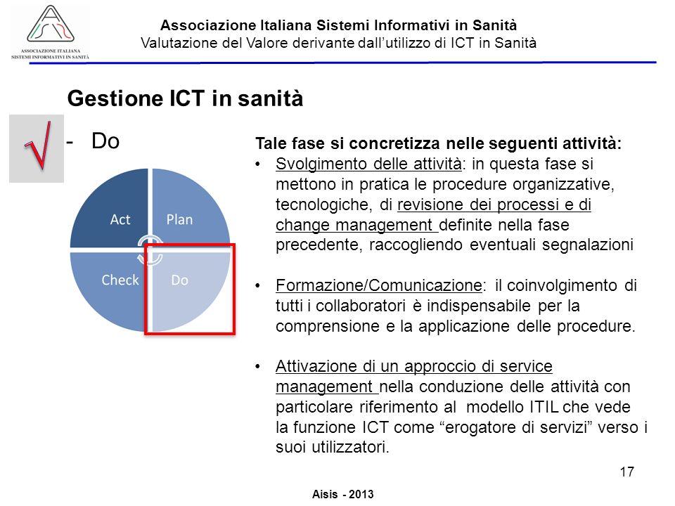 √ Gestione ICT in sanità Do