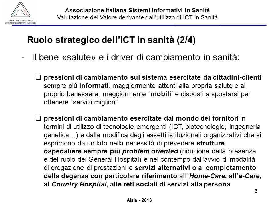 Ruolo strategico dell'ICT in sanità (2/4)