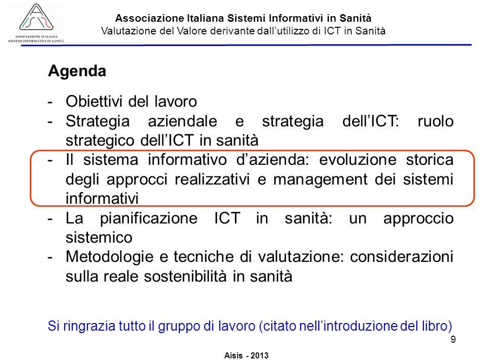 La pianificazione ICT in sanità: un approccio sistemico
