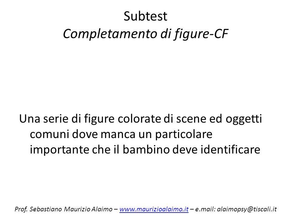 Subtest Completamento di figure-CF