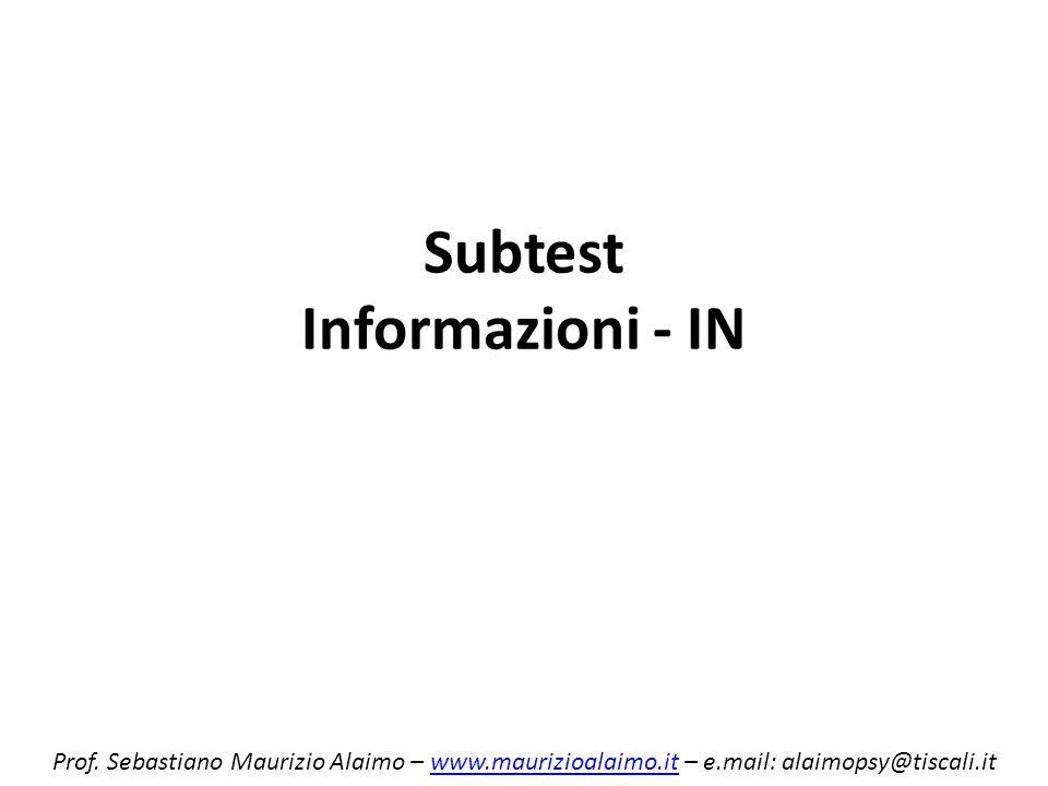 Subtest Informazioni - IN
