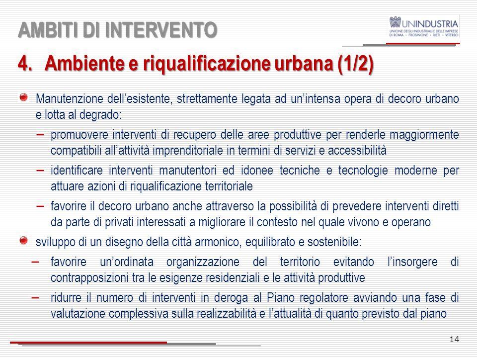 Ambiente e riqualificazione urbana (1/2)