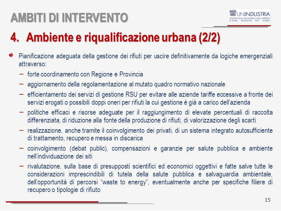 Ambiente e riqualificazione urbana (2/2)