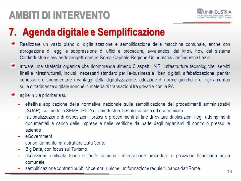 Agenda digitale e Semplificazione