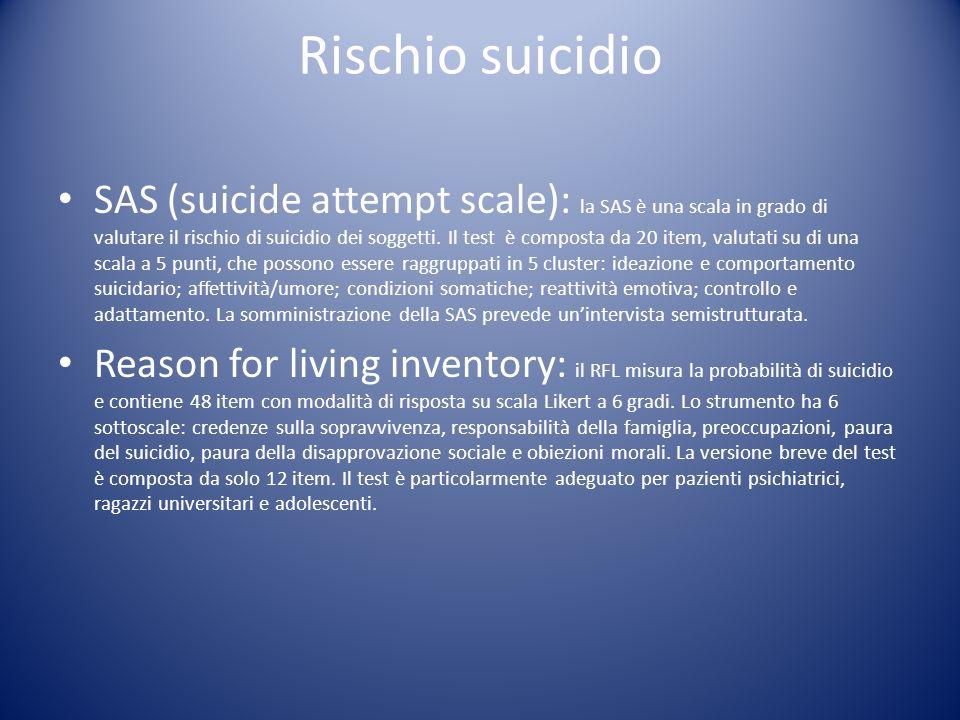 Rischio suicidio