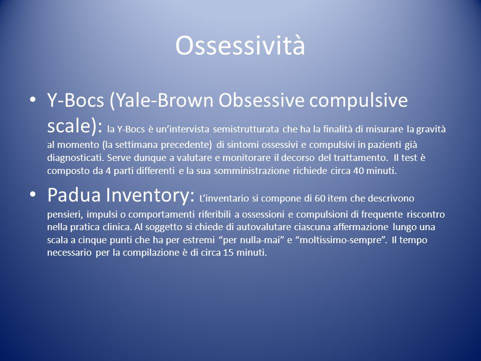 Ossessività