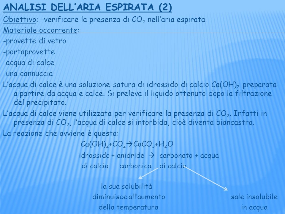 ANALISI DELL'ARIA ESPIRATA (2)