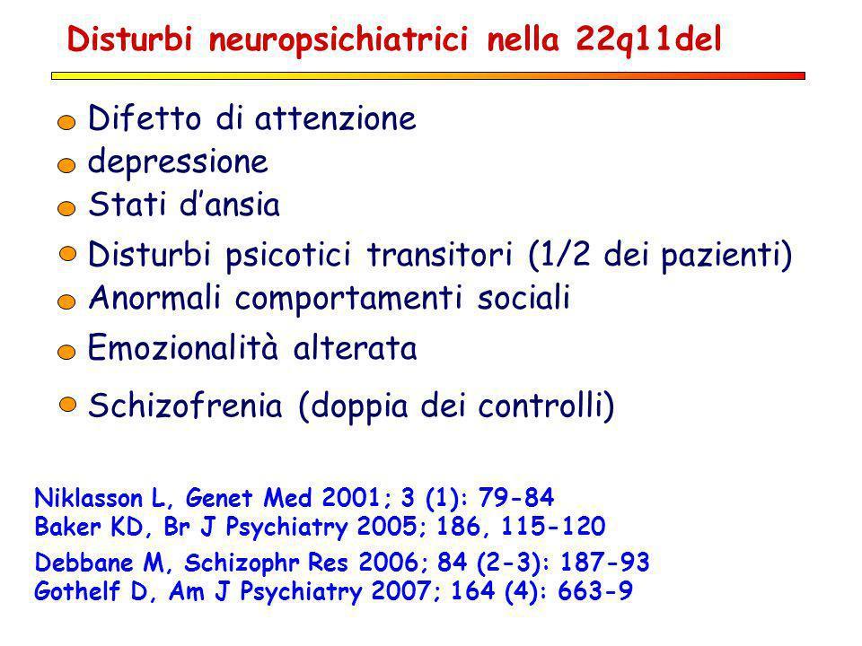 Disturbi neuropsichiatrici nella 22q11del