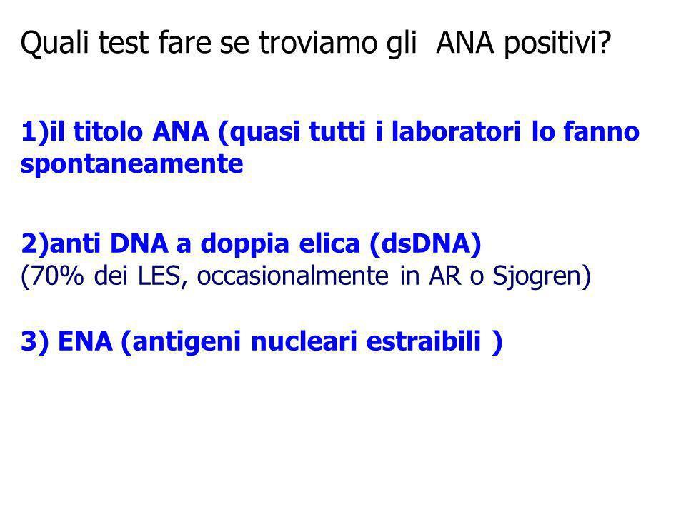 Quali test fare se troviamo gli ANA positivi