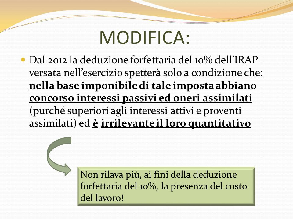 MODIFICA: