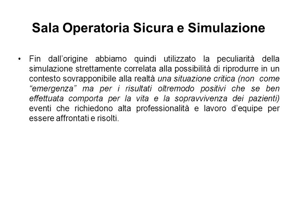 Sala Operatoria Sicura e Simulazione