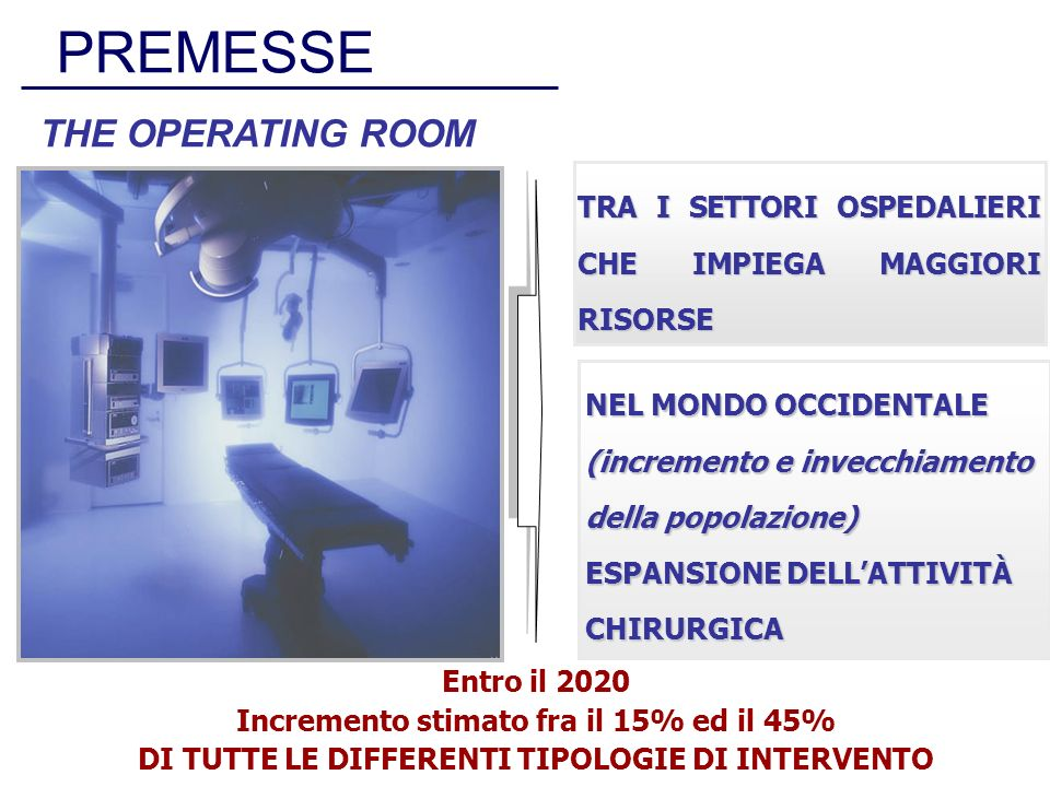 PREMESSE THE OPERATING ROOM