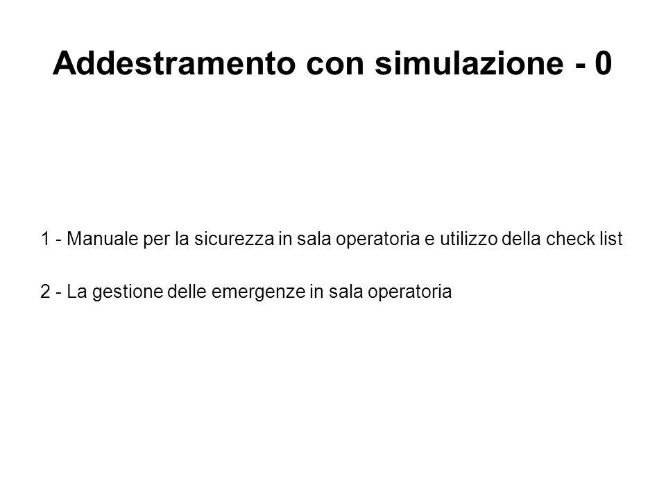 Addestramento con simulazione - 0