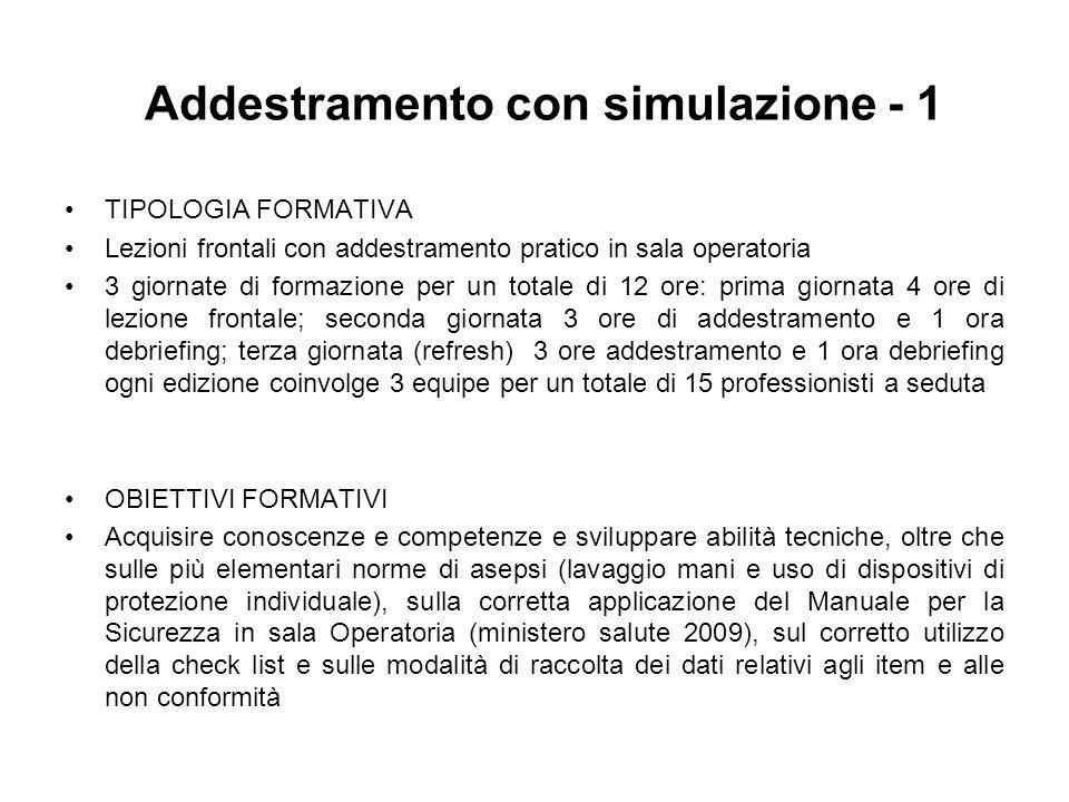 Addestramento con simulazione - 1