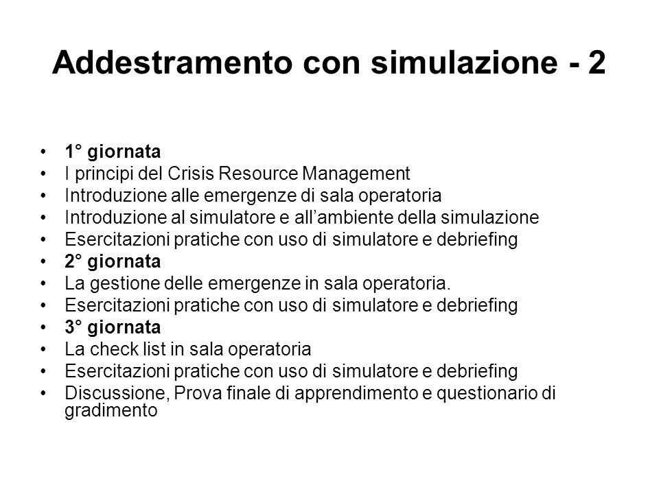 Addestramento con simulazione - 2