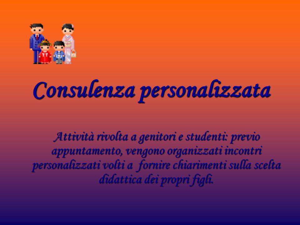 Consulenza personalizzata