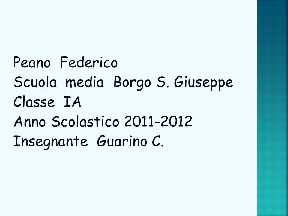 Peano Federico Scuola media Borgo S