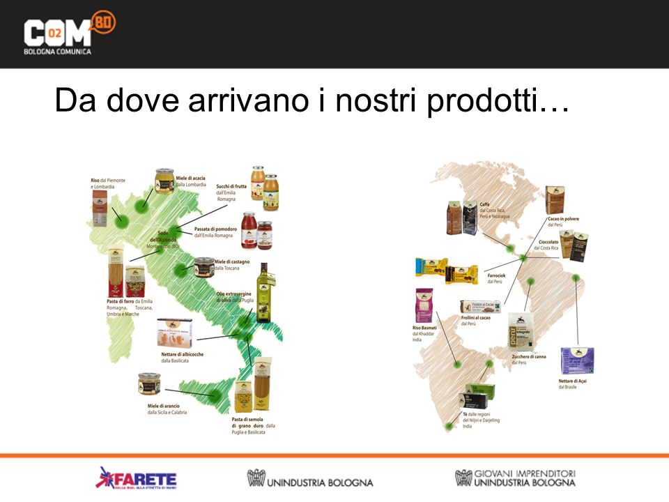 Da dove arrivano i nostri prodotti…