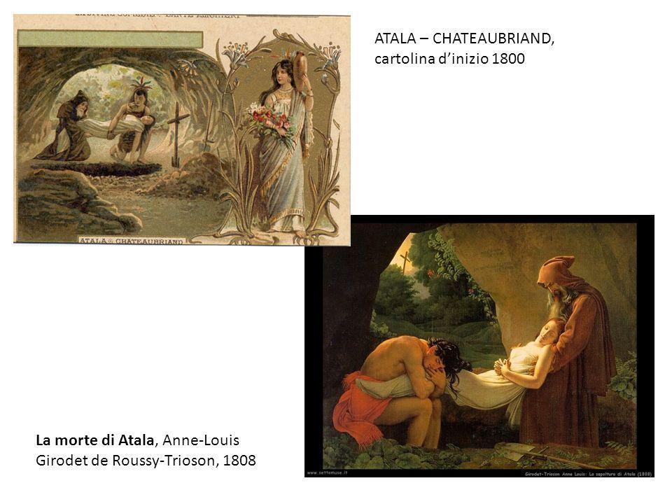 ATALA – CHATEAUBRIAND, cartolina d'inizio 1800