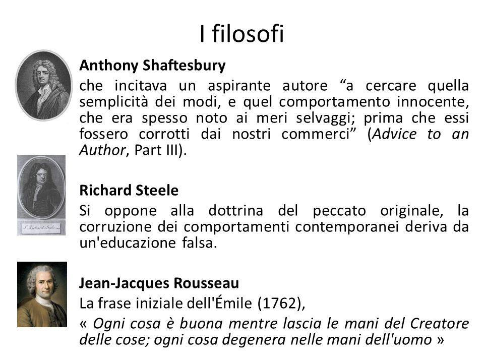 I filosofi Anthony Shaftesbury
