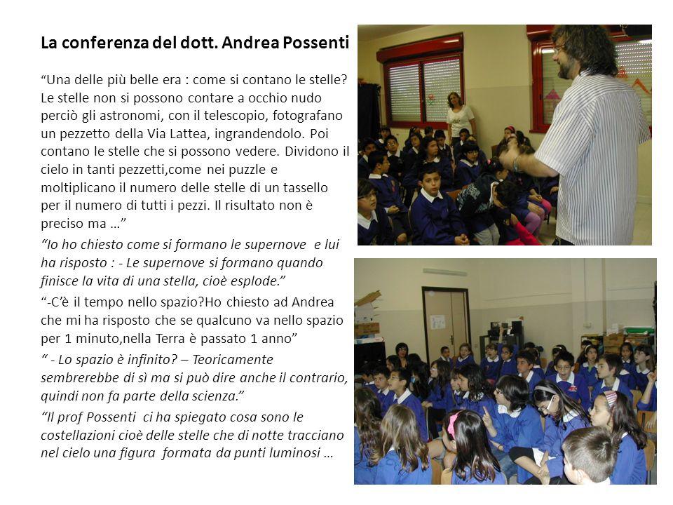 La conferenza del dott. Andrea Possenti