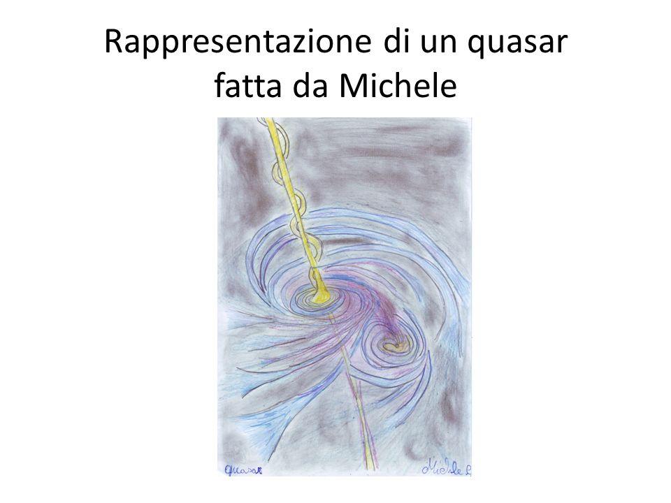 Rappresentazione di un quasar fatta da Michele