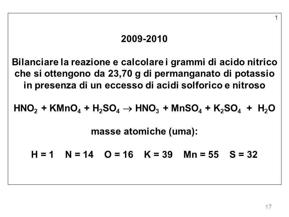 in presenza di un eccesso di acidi solforico e nitroso