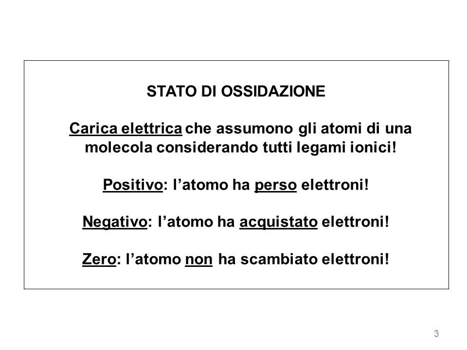 Positivo: l'atomo ha perso elettroni!