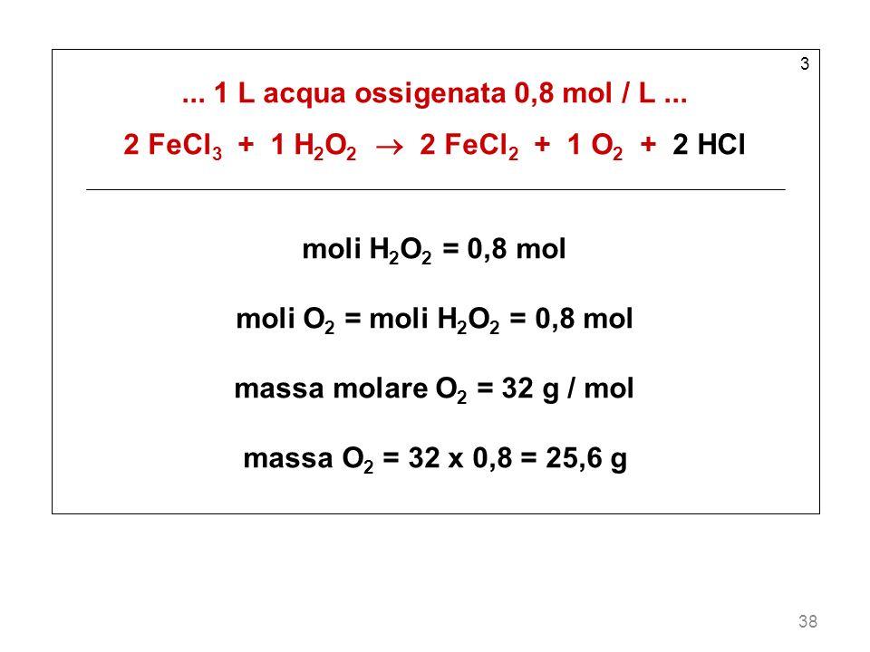 ... 1 L acqua ossigenata 0,8 mol / L ...