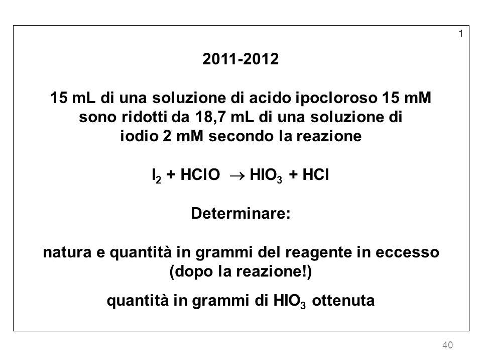 15 mL di una soluzione di acido ipocloroso 15 mM