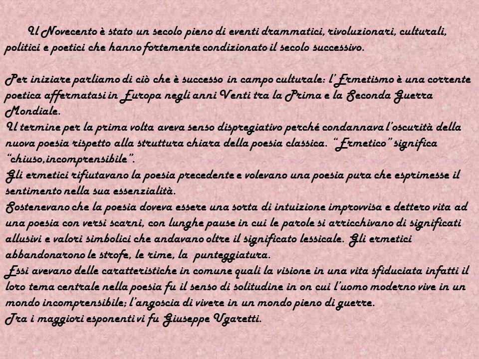 Tra i maggiori esponenti vi fu Giuseppe Ugaretti.