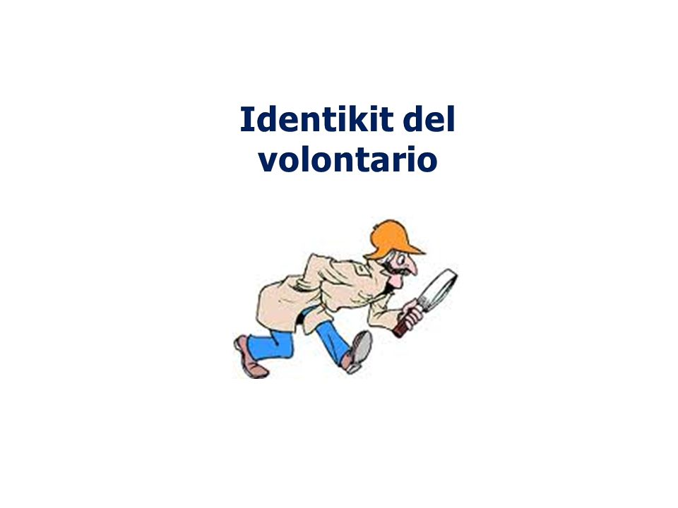 Identikit del volontario