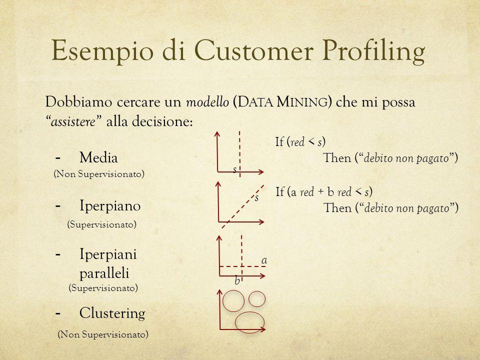 Esempio di Customer Profiling