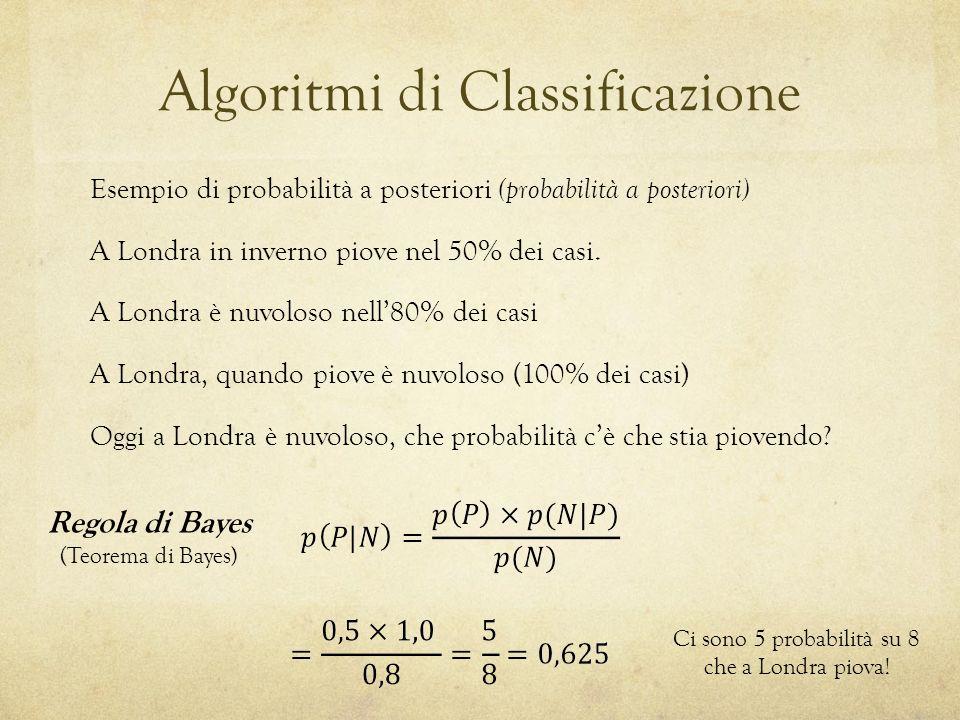 Algoritmi di Classificazione