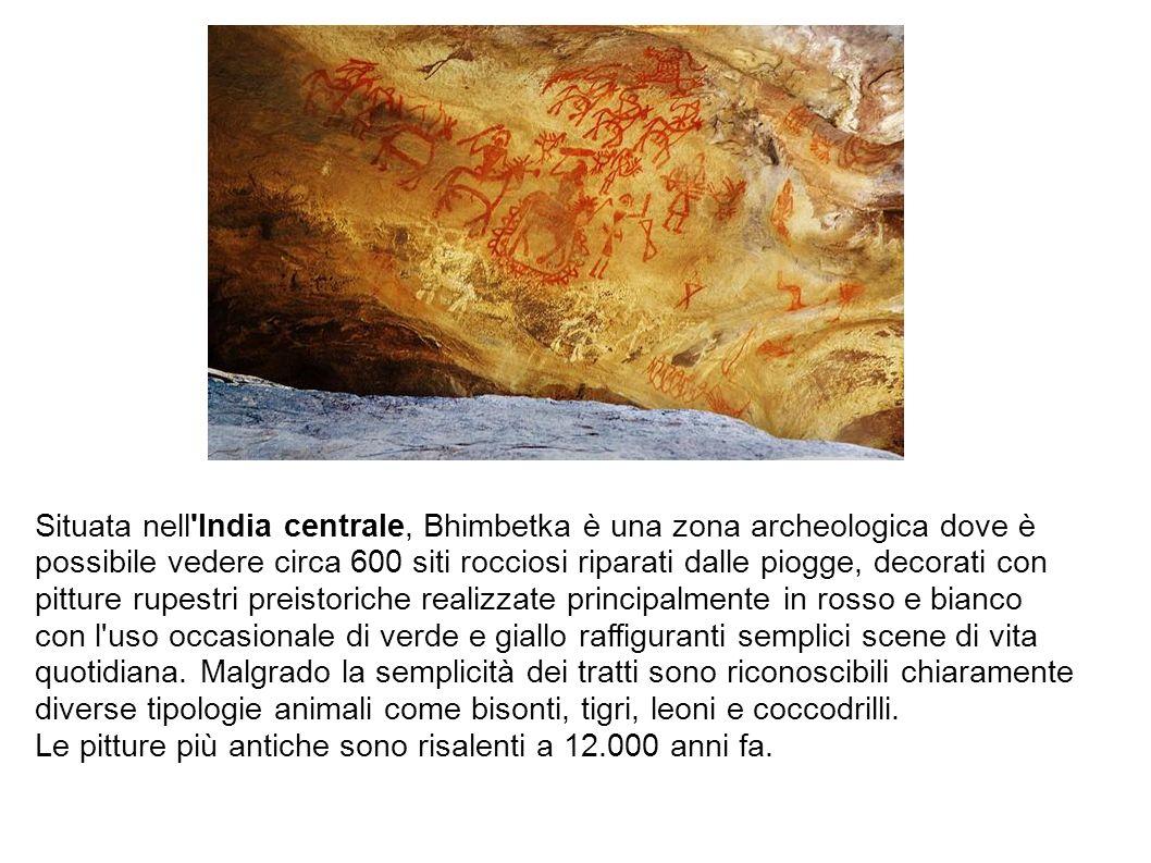 Situata nell India centrale, Bhimbetka è una zona archeologica dove è