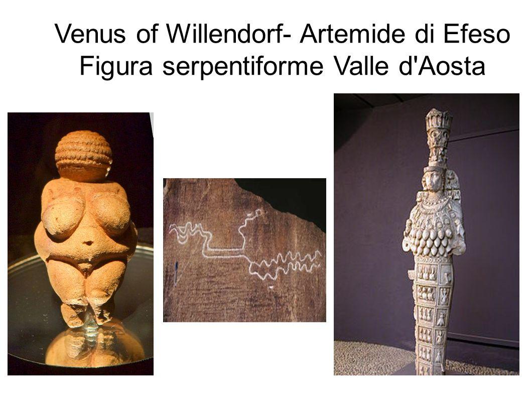 Venus of Willendorf- Artemide di Efeso Figura serpentiforme Valle d Aosta