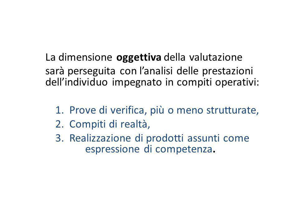 La dimensione oggettiva della valutazione
