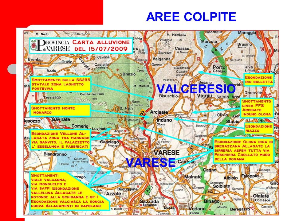 AREE COLPITE VALCERESIO VARESE