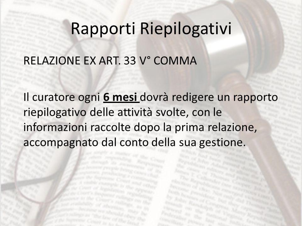 Rapporti Riepilogativi