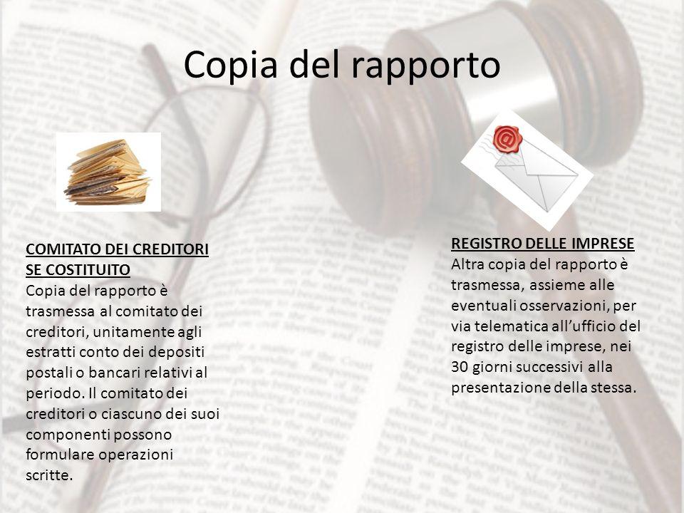 Copia del rapporto REGISTRO DELLE IMPRESE