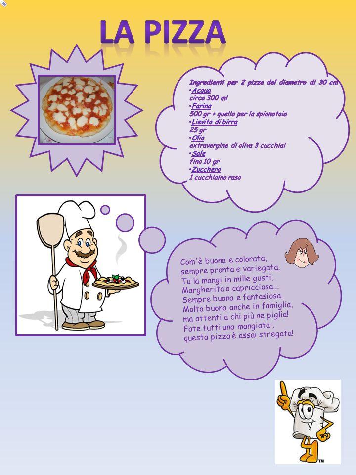 La pizza Com è buona e colorata, sempre pronta e variegata.