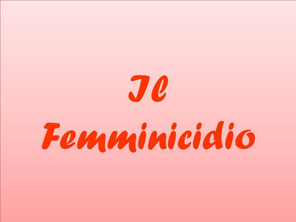 Il Femminicidio