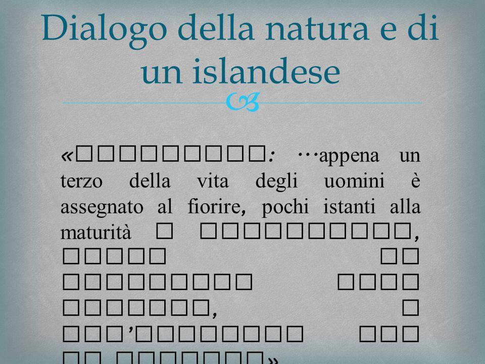 Dialogo della natura e di un islandese