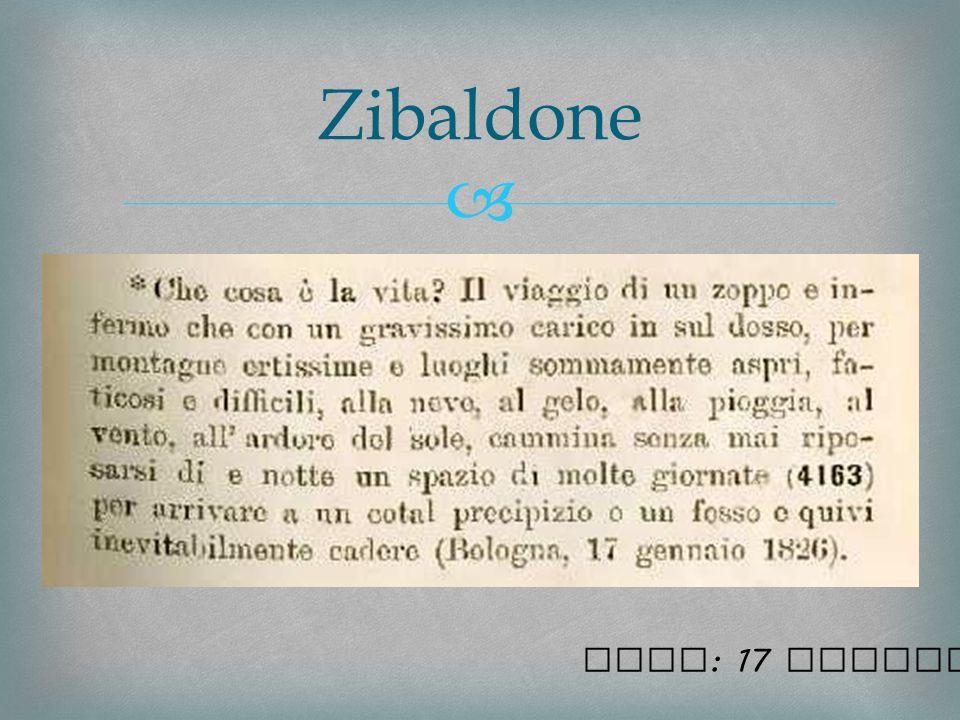 Zibaldone Nota: 17 gennaio 1826