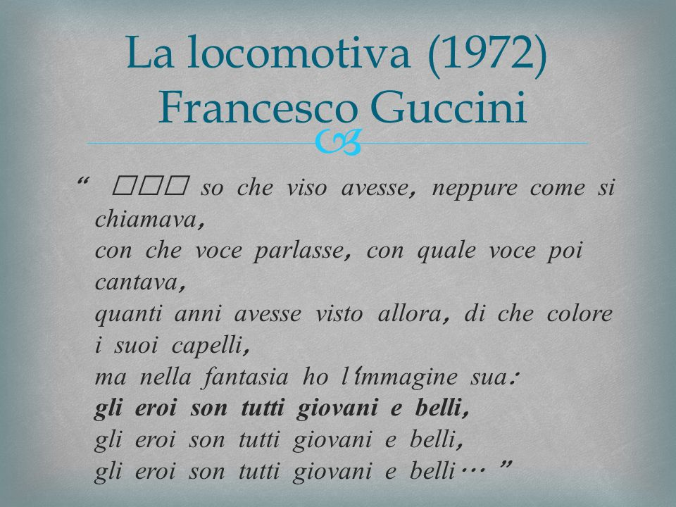 La locomotiva (1972) Francesco Guccini