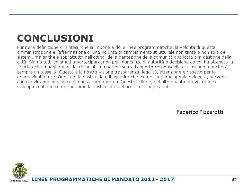 CONCLUSIONI Federico Pizzarotti