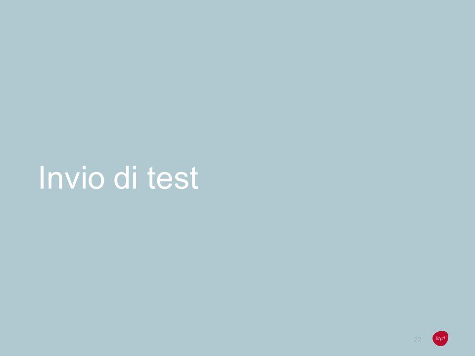Invio di test