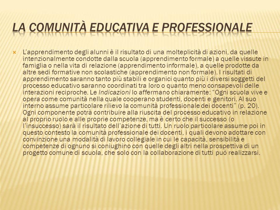 La comunità educativa e professionale